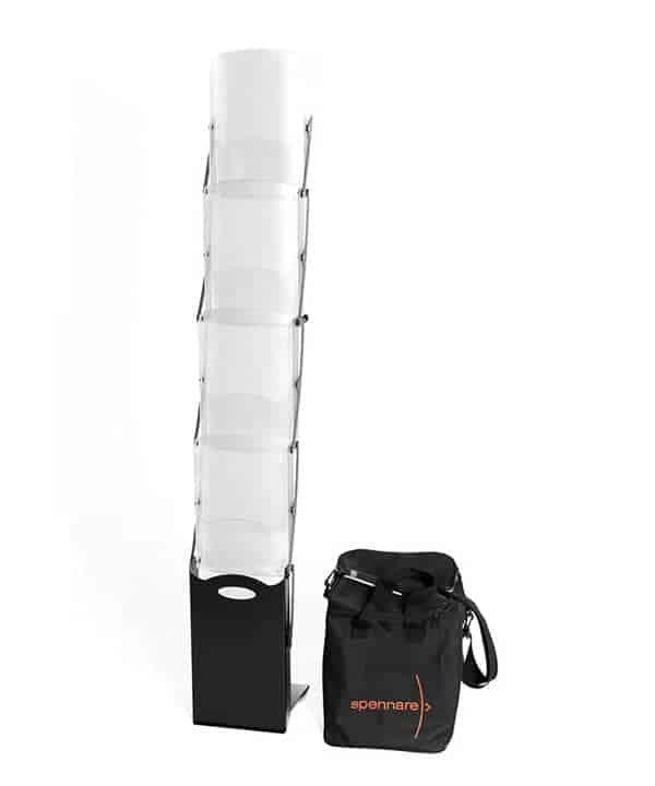 brochureholder Brochureholder Pro med väska spennare broachure komplett 600x720
