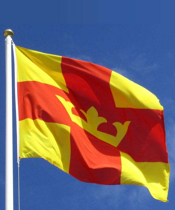 kyrkans flagga Svenska kyrkans fana svensk kyrkan flagga