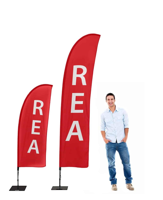 affisch Standardprodukter Beachflagga REA 1226x1500