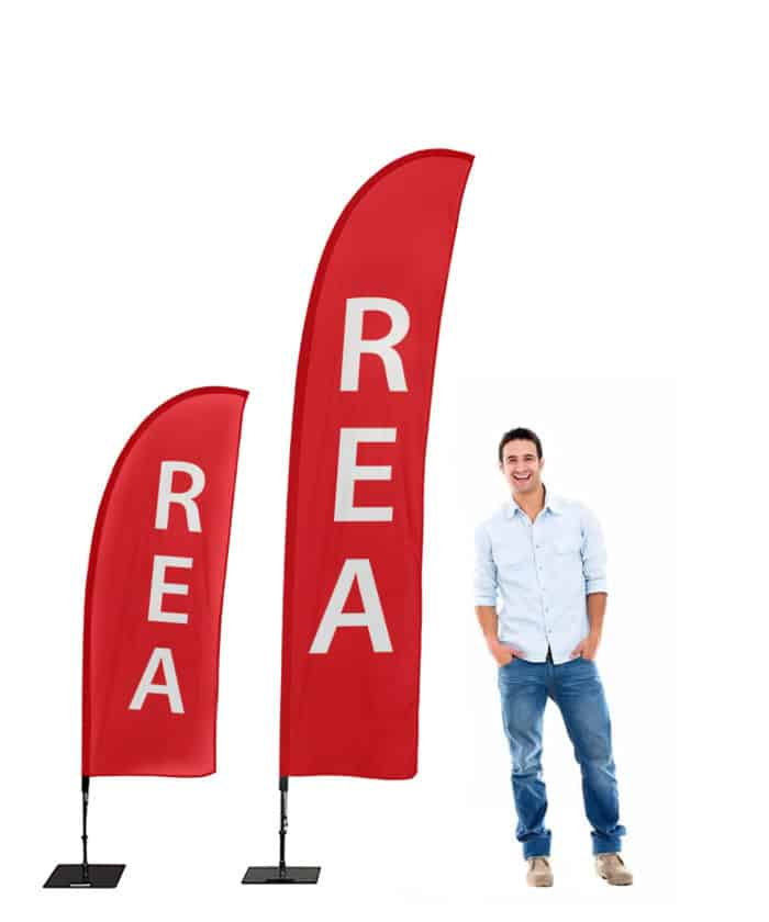 affisch Standardprodukter Beachflagga REA 700x840