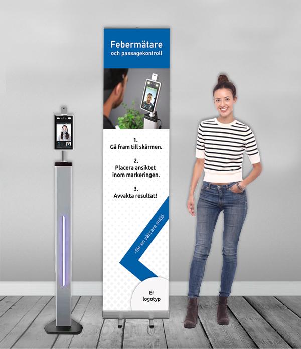 rollup Digital Rollup – Digitala Skyltar feberm  tare produktbild bl   erollup