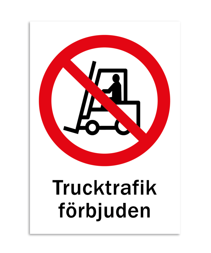 [object object] Skyltar skylt trucktrafik f  rbjudet 700x840