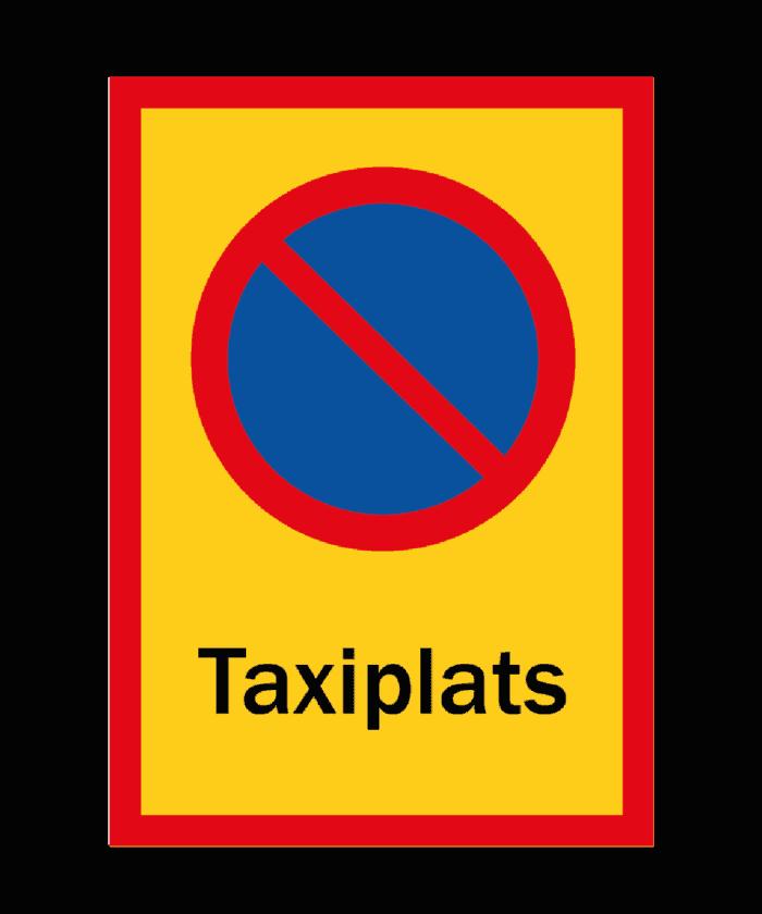 [object object] Skyltar skylt pakering f  rbjuden taxiplats 700x840